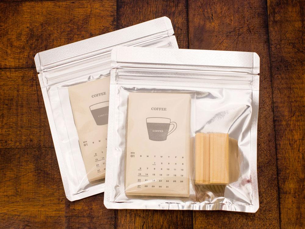 活版印刷 コーヒーペーパー カレンダー