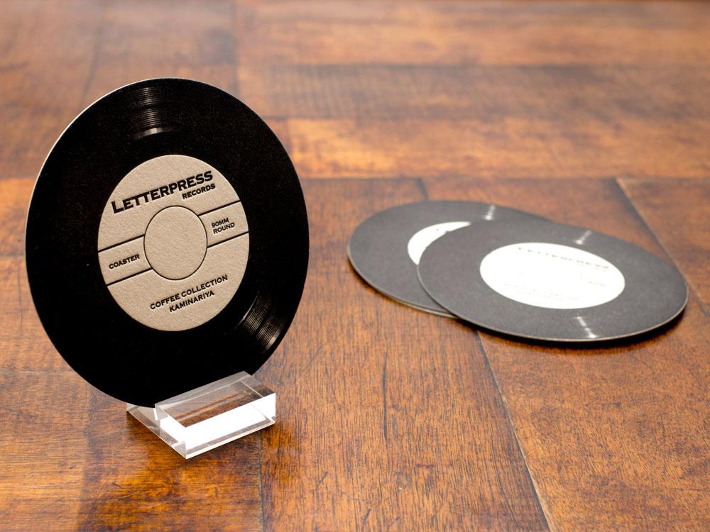 活版印刷 コースター レコード